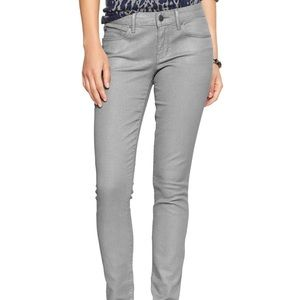 Gap 1969 28/6 metallic silver always skinny jeans